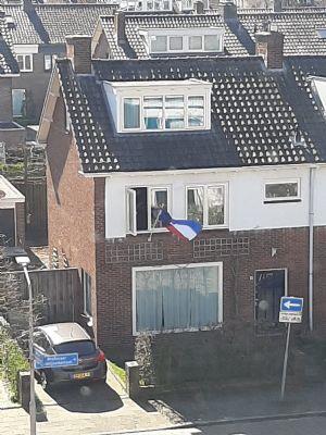 vlag uit want geslaagd